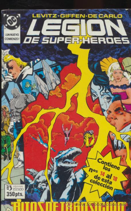 LEGIÓN DE SUPER HÉROES.TOMO 3. CONTIENE LOS EJEMPLARES DEL 14 AL 18. (Tebeos y Comics - Zinco - Retapados)