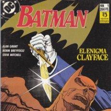 Cómics: BATMAN. EL ENIGMA CLAYFACE 1 Y 2 COMPLETA. Lote 40323335