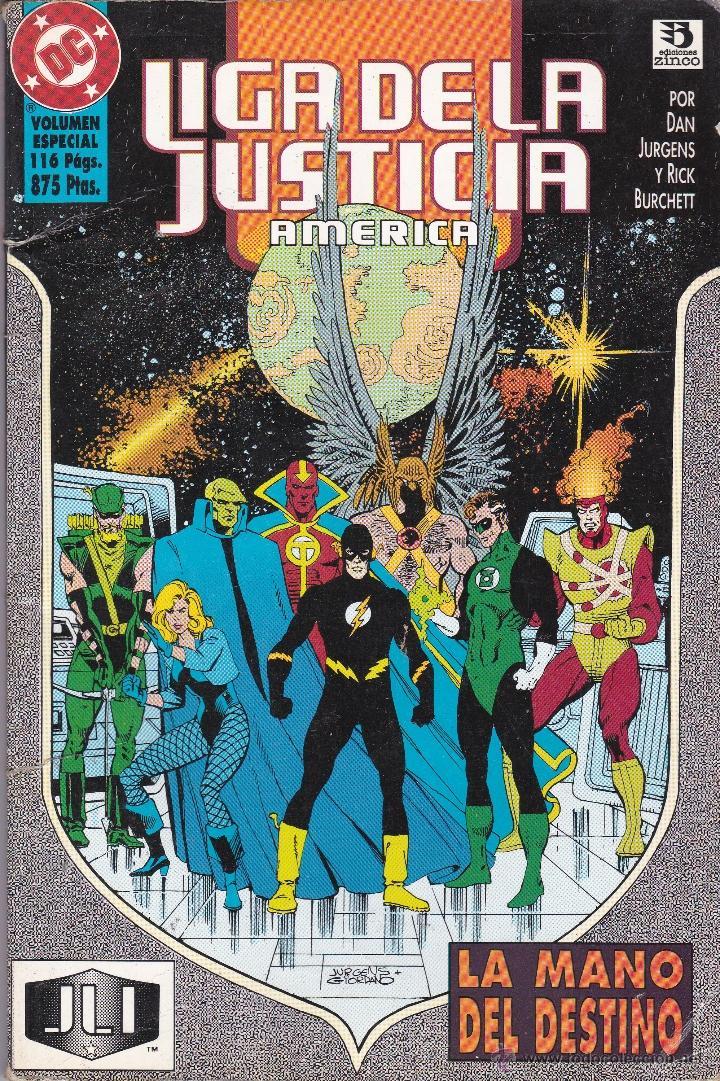 LIGA DE LA JUSTICIA AMERICA. LA MANO DEL DESTINO. TOMO (Tebeos y Comics - Zinco - Liga de la Justicia)