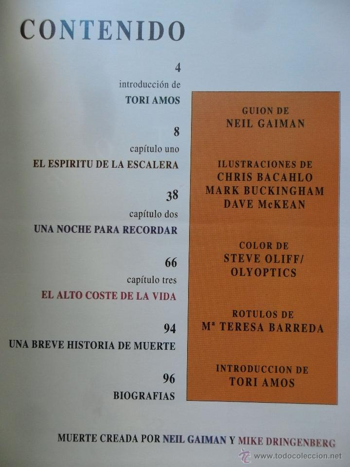 Cómics: MUERTE EL ALTO COSTE DE LA VIDA . NEIL GAIMAN . CHRIS BACHALO - Foto 4 - 40623574