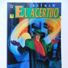 Cómics: BATMAN EL ACERTIJO . MATT WAGNER . DAVE TYLOR. Lote 40662641