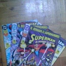 Cómics: SUPERMAN EL HOMBRE DE ACERO NºS 1 AL 7 EL REINADO DE LOS SUPERHOMBRES. Lote 40671306