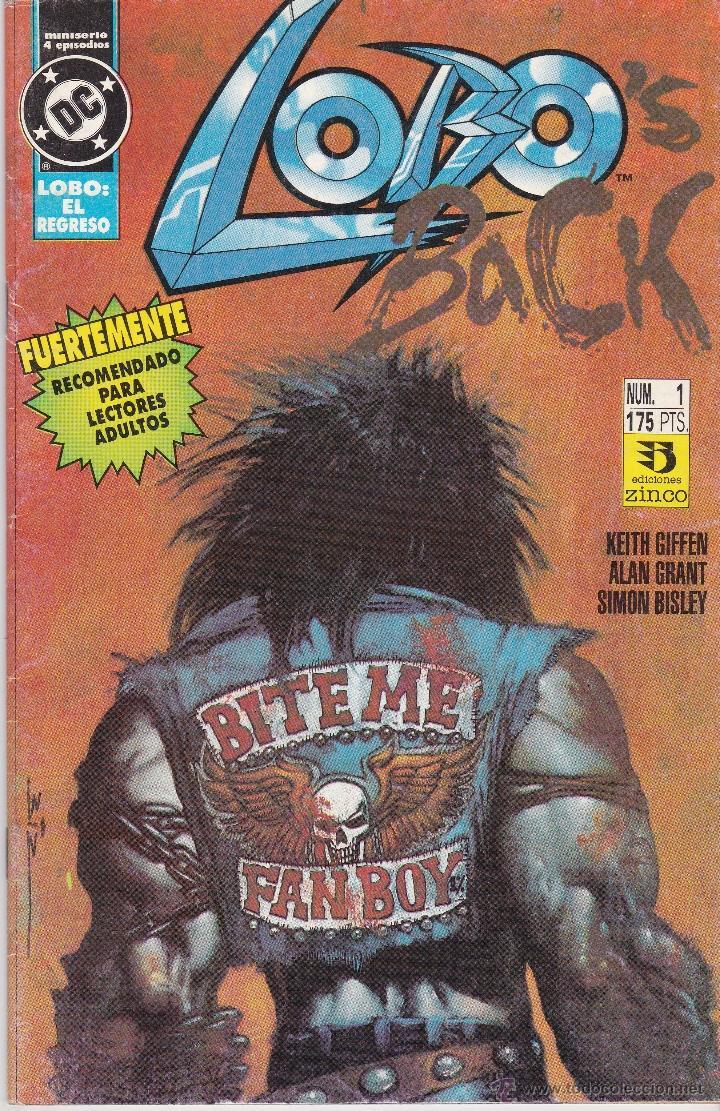 LOBO'S BACK NUMERO 1 DE 4 (Tebeos y Comics - Zinco - Lobo)
