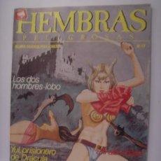 Cómics: HEMBRAS PELIGROSAS. Nº49. DOS HOMBRES LOBO/YUL PRISIONERO DE DRACULA/...1988. MIDE: 24,5 X 17,3 CMS.. Lote 41124833