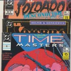 Cómics: LOTE DE 3 NÚMEROS 1 DE ZINCO: EL SOLDADO DESCONOCIDO,LA SOMBRA Y TIME MASTERS.. Lote 41400138