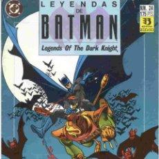 Cómics: LEYENDAS DE BATMAN NÚMERO 24. Lote 42649673