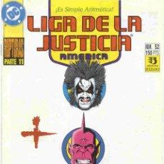 Cómics: LIGA DE LA JUSTICIA AMERICA NÚMERO 52. Lote 42649791