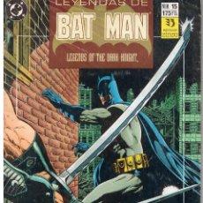 Cómics: LEYENDAS DE BATMAN. NUMERO 15. ZINCO 1990. Lote 43365074