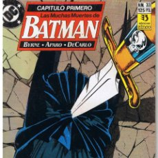 Cómics: BATMAN. LAS MUCHAS MUERTES DE BATMAN. CAPITULO PRIMERO. ZINCO. Lote 43365439