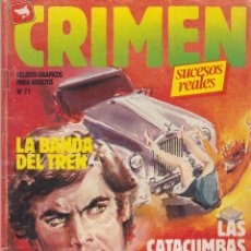 Cómics: COMIC CRIMEN Nº 71 DE 66PGS.ED.ZINCO / WORLDTECH 1985 ADULTOS. Lote 43373109