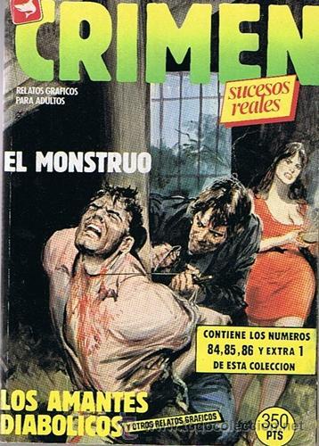 COMIC CRIMEN N.84,85,86 Y EXTRA 1 RELATOS GRÁFICOS PARA ADULTOS (Tebeos y Comics - Zinco - Retapados)
