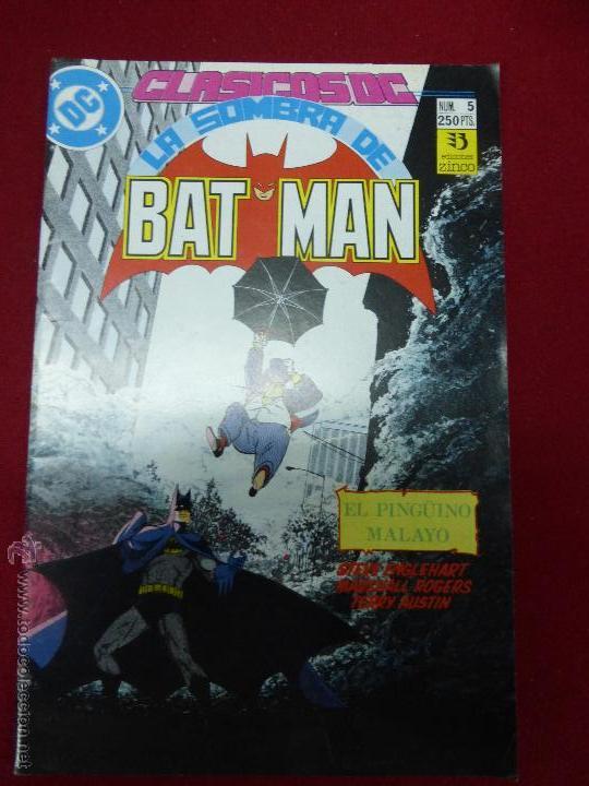 LA SOMBRA DE BATMAN Nº 5 EL PINGÜINO MALAYO, CLÁSICOS DC (Tebeos y Comics - Zinco - Batman)