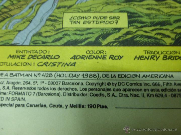 Cómics: Batman - Una muerte en la familia nº 3 (de 3) - DC (Zinco) - AÑO 1988 - Foto 2 - 44436343
