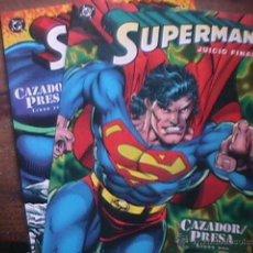 Cómics: SUPERMAN JUICIO FINAL, CAZADOR-PRESA, LIBROS DOS Y TRES, DC, ZINCO, 1995. Lote 44709360