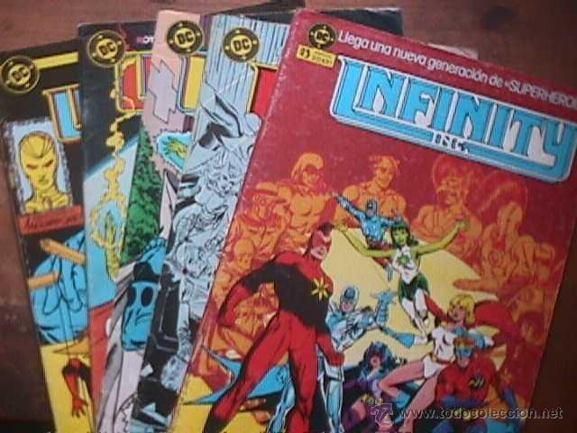 INFINITY INC. Nº 1, 9, 11, 12 Y 14, DC, ZINCO, 1986 (Tebeos y Comics - Zinco - Infinity Inc)