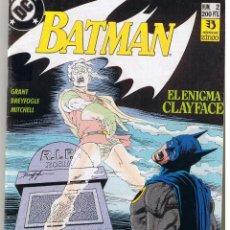 Comics : BATMAN. Nº 2. EL ENIGMA CLAYFACE. DC / ZINCO (RF.MA) C/4. Lote 222533051