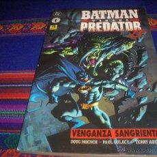 Cómics: BATMAN VERSUS PREDATOR, VENGANZA SANGRIENTA. ZINCO 1996. PRESTIGIO. MUY BUEN ESTADO.. Lote 44821401