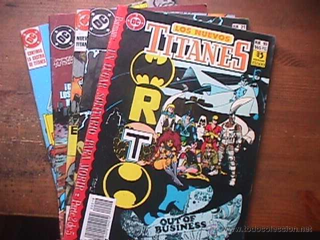 LOS NUEVOS TITANES Nº 19, 21, 25, 29 Y 32, ÇDC, ZINCO, 1990 (Tebeos y Comics - Zinco - Nuevos Titanes)