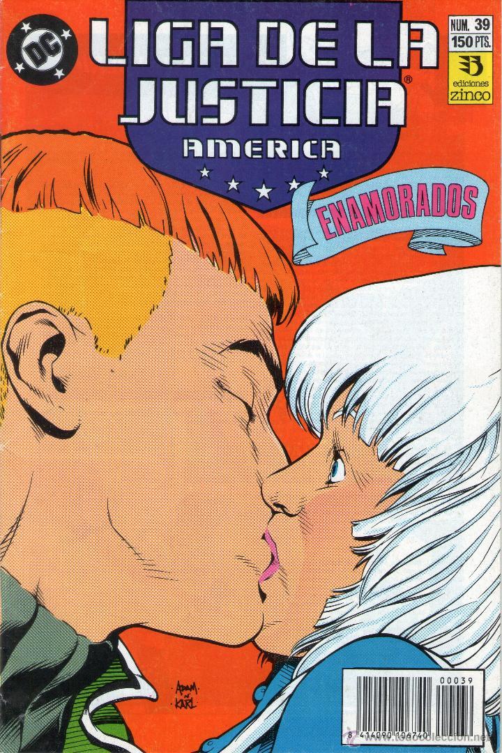 LIGA DE LA JUSTICIA AMÉRICA - Nº 39 - DC COMICS - EDICIONES ZINCO - AÑOS 80. (Tebeos y Comics - Zinco - Liga de la Justicia)