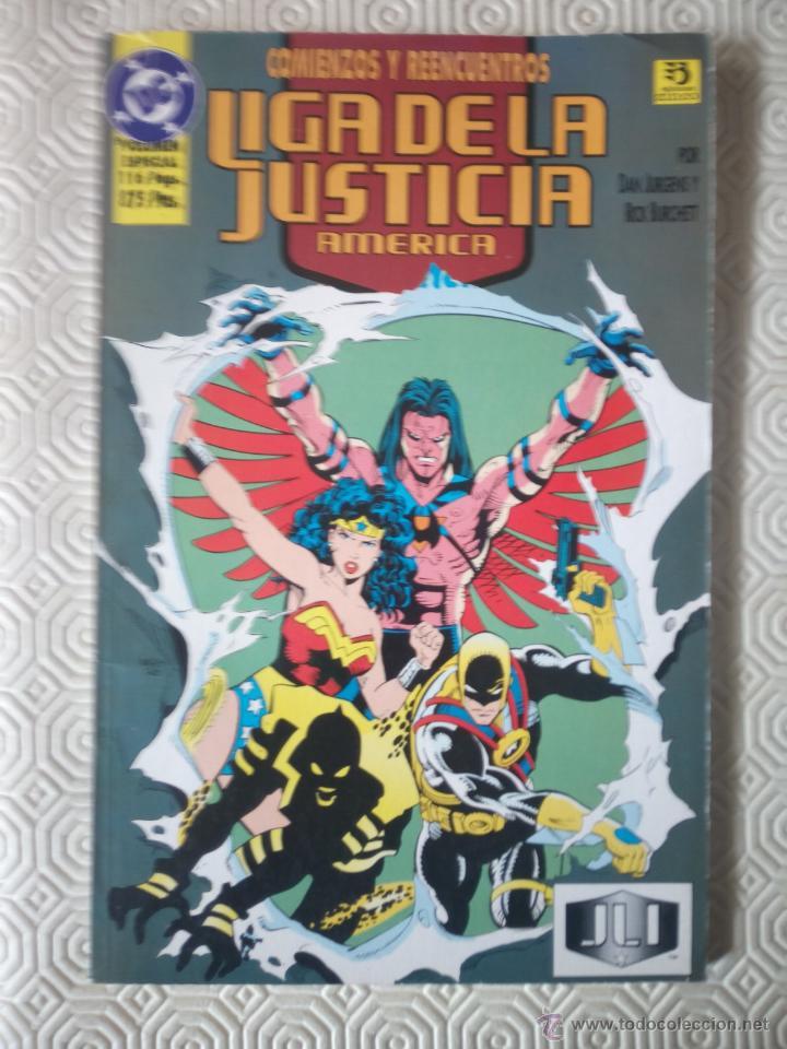 LIGA DE LA JUSTICIA AMERICA: COMIENZOS Y REENCUENTROS DE DAN JURGENS, RICK BURCHETT, SAL BELLUTO... (Tebeos y Comics - Zinco - Liga de la Justicia)