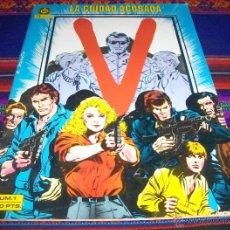 Cómics: V Nº 1, LA CIUDAD ACOSADA. ZINCO 100 PTS 1985. BUEN ESTADO.. Lote 45861923