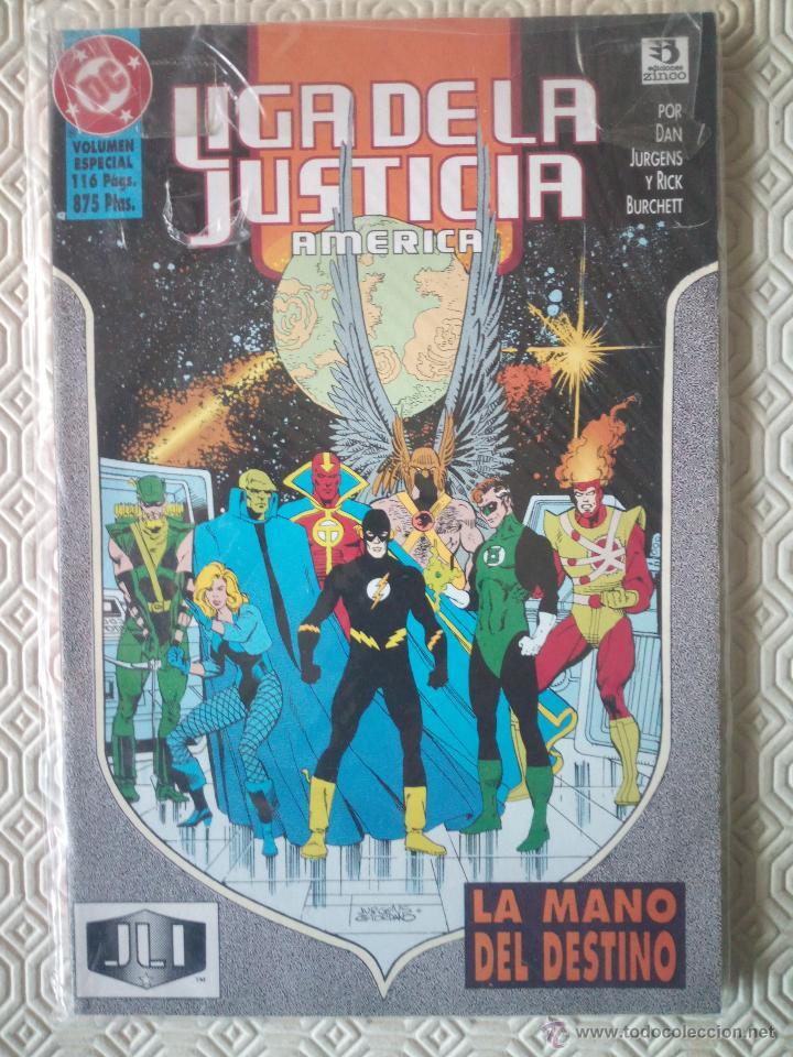 LIGA DE LA JUSTICIA DE AMERICA: LA MANO DEL DESTINO DE DAN JURGENS, RICK BURCHETT (Tebeos y Comics - Zinco - Liga de la Justicia)