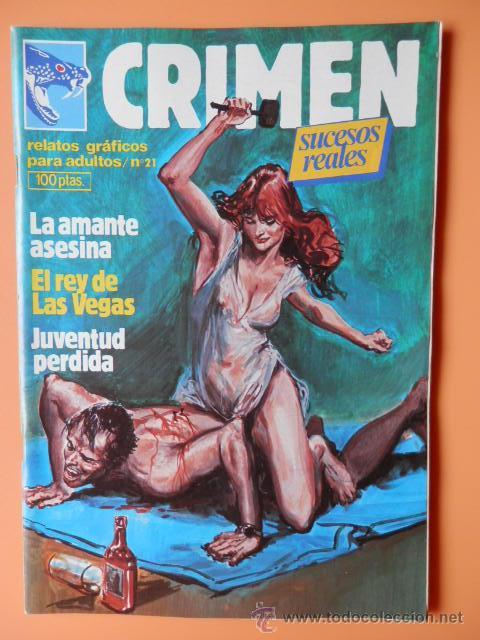 CRIMEN. RELATOS GRÁFICOS PARA ADULTOS. Nº 21 - DIVERSOS AUTORES (Tebeos y Comics - Zinco - Otros)
