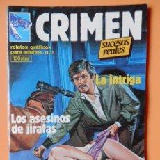 Cómics: CRIMEN. RELATOS GRÁFICOS PARA ADULTOS. Nº 37 - DIVERSOS AUTORES. Lote 46031814