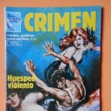 Cómics: CRIMEN. RELATOS GRÁFICOS PARA ADULTOS. Nº 41 - DIVERSOS AUTORES. Lote 46031838