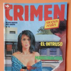 Cómics: CRIMEN. RELATOS GRÁFICOS PARA ADULTOS. Nº 70 - DIVERSOS AUTORES. Lote 46031949