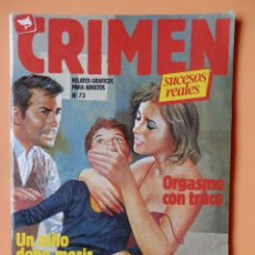 Cómics: CRIMEN. RELATOS GRÁFICOS PARA ADULTOS. Nº 73 - DIVERSOS AUTORES. Lote 46031951