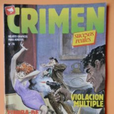 Cómics: CRIMEN. RELATOS GRÁFICOS PARA ADULTOS. Nº 78 - DIVERSOS AUTORES. Lote 46031953