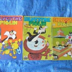 Cómics: 3 COMICS SILVESTRE Y PIOLIN LOONEY TUNES - ZINCO 1987. Lote 46336626