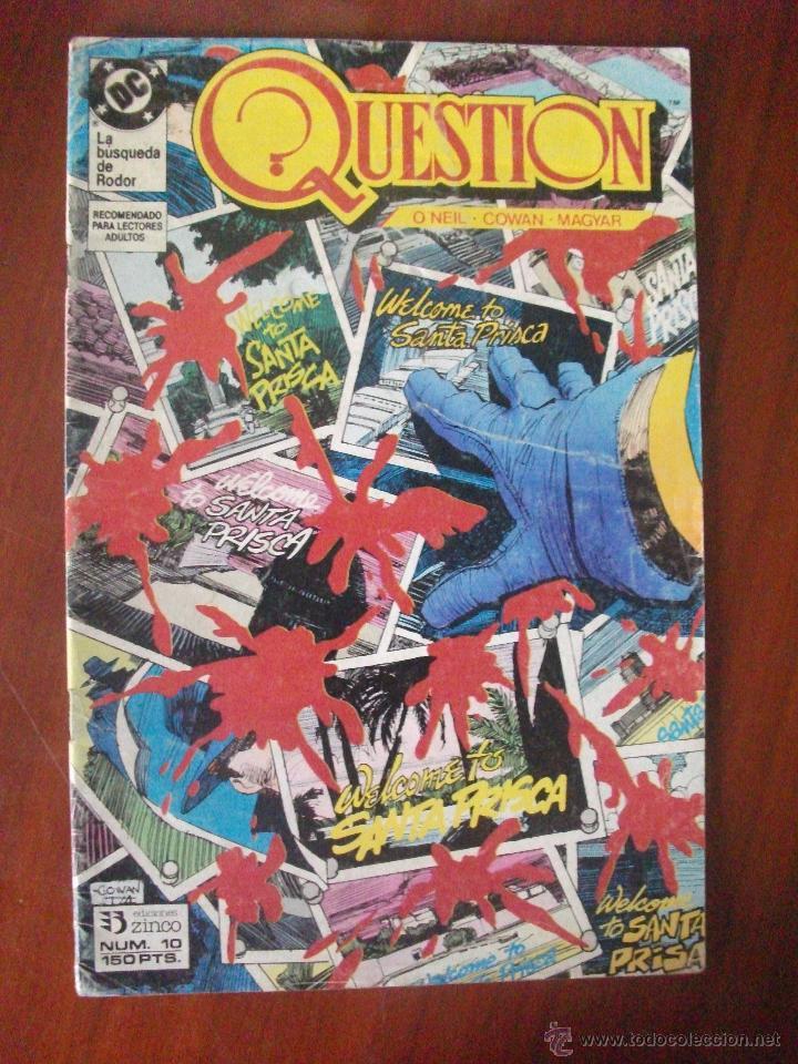 QUESTION Nº 10 EDICIONES ZINCO (Tebeos y Comics - Zinco - Question)