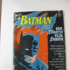 Cómics: BATMAN Nº 1. UNA MUERTE EN LA FAMILIA. EDICIONES ZINCO 1987. Lote 50325981