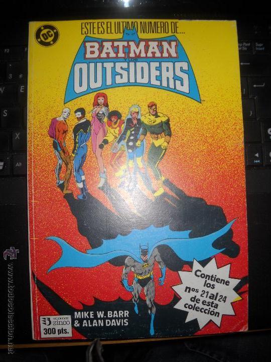 BATMAN OUTSIDERS RETAPADO NUMEROS : 21,22,23 Y 24. (Tebeos y Comics - Zinco - Batman)