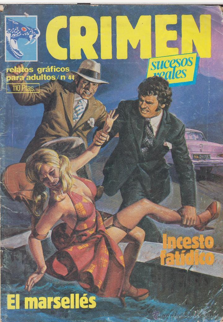 COMIC ADULTOS -CRIMEN ( SUCESOS REALES ) Nº 44 ED. ZINCO 1981 (Tebeos y Comics - Zinco - Otros)