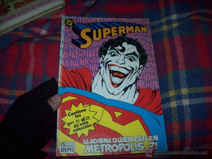 MAGNÍFICO TOMO DE SUPERMAN QUE CONTIENE LOS Nº 21 AL 25. DC-ED.ZINCO. VER FOTOS. (Tebeos y Comics - Zinco - Superman)