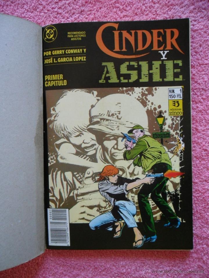 Cómics: cinder y ashe 1 2 3 4 ediciones zinco 1990 obra completa gerry conway garcía lópez - Foto 2 - 47631003