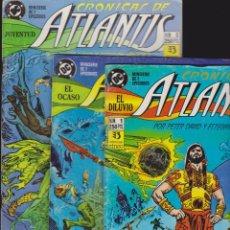 Cómics: CRONICAS DE ATLANTIS NUMEROS 1,2 Y 3 / PETER DAVID Y ESTEBAN MAROTO. Lote 130702431