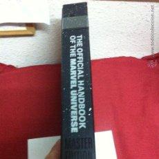 Cómics: THE OFFICIAL HANDBOOK OF THE MARVEL UNIVERSE LIBRO DE FICHAS . Lote 50559636