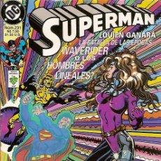 Cómics: SUPERMAN Nº 231 SOLO EL TIEMPO LO DIRA DAN JURGENS BRETT BREEDING DC COMICS. Lote 50579114