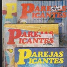 Cómics: PAREJAS PICANTES , RELATOS GRAFICOS PARA ADULTOS - LOTE DE 4 EJEMPLARES Nº 1,7,8,10. Lote 50631975
