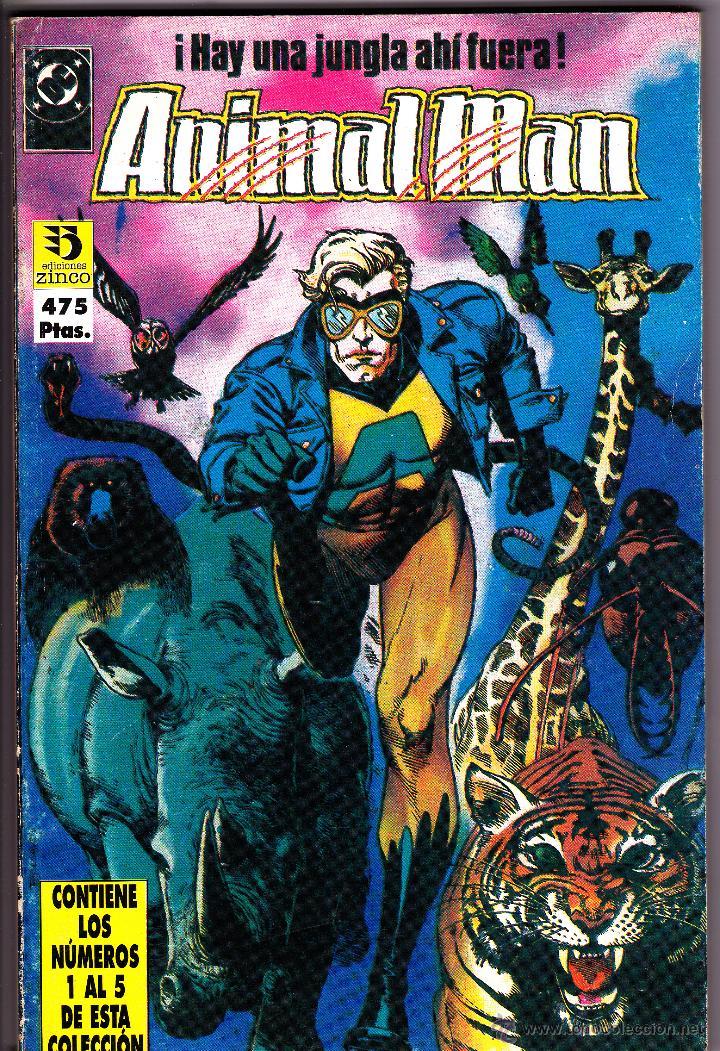 ANIMAL MAN. 2 RETAPADOS CON LOS NUMEROS 1 AL 10 (Tebeos y Comics - Zinco - Retapados)