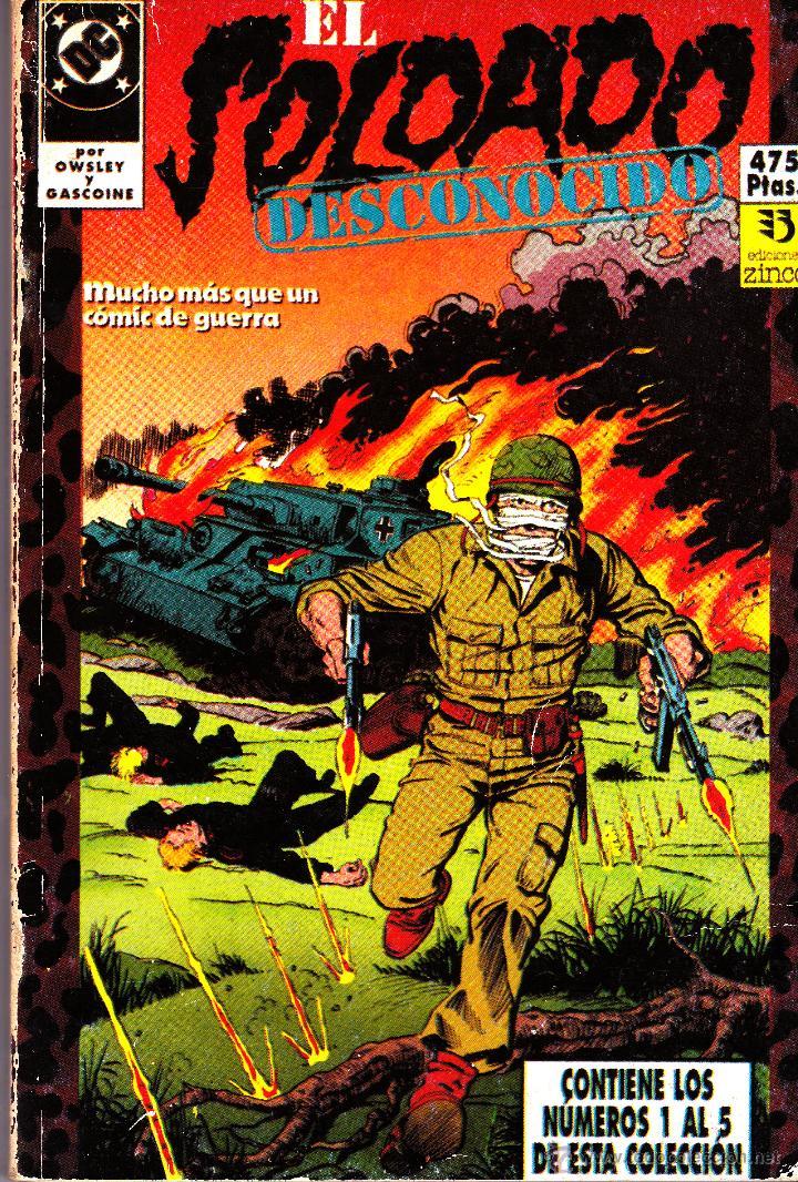 EL SOLDADO DESCONOCIDO. 1 AL 10 COMPLETA EN DOS RETAPADOS (Tebeos y Comics - Zinco - Retapados)