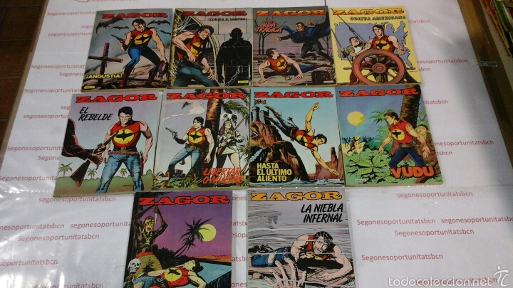 LOTE - ZAGOR - N°1 AL 10 - ED. ZINCO 1982 (Tebeos y Comics - Zinco - Otros)
