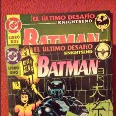 Cómics: OFERTA BATMAN: EL ÚLTIMO DESAFIO 1 Y 2 TOMOS - ZINCO. Lote 54439392