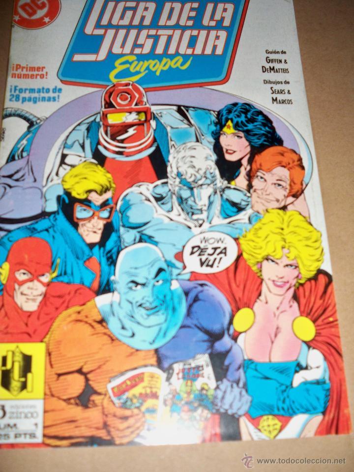 LIGA DE LA JUSTICIA EUROPA N 1 ZINCO (Tebeos y Comics - Zinco - Liga de la Justicia)