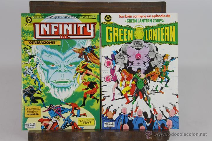 5710- EDICIONES ZINCO. INFINITY Y GREEN LANTERN. 1986. 8 EJEMPLARES. (Tebeos y Comics - Zinco - Otros)