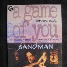 Cómics: SANDMAN - A GAME OF YOU - TERCERA PARTE - EDICIONES ZINCO.. Lote 55797337